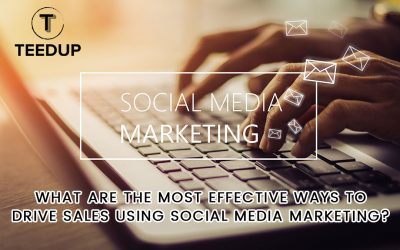 What are the most effective ways to drive sales using social media marketing?